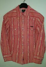 NWOT: LUCKY BRAND Women's Western-Styled Shirt with Pearl Button Snaps, Red, Lg.