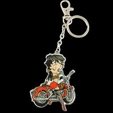 BETTY BOOP KEY CHAIN ZIPPER PULL BIKER  DESIGN