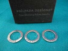 Silpada Designs Jewelry ~Sterling Silver Pendants Set of 3 Retired S1622 Believe