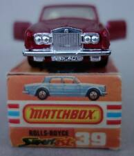 1979 Matchbox Superfast nº 39 Rolls Royce Silver Shadow en OVP original box