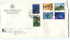 1995 FDC San Marino 20° anniv 100° Touring club OMT RACCOMANDATA First Day Cover