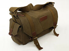 Courser Canvas XL Shoulder Bag Case For Canon Nikon Sony DSLR Cameras - Brown