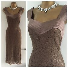 Platinum Dress Size 14 Brown Lace Evening Occasion Races Party