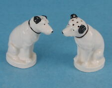 VINTAGE LENOX NIPPER RCA VICTOR HIS MASTERS VOICE CERAMIC SALT & PEPPER SHAKERS