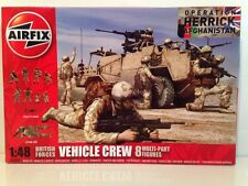 Airfix A03702 British Forces Vehicle Crew 8 Multi Part Figures Unpainted  1:48