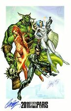 J. SCOTT CAMPBELL 2011 PARIS FANTASY SUPERHERO SIGNED ART PRINT