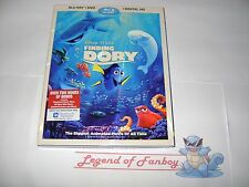 * New * Sealed *  Finding Dory on Blu-Ray (+ DVD + Digital HD) w/ Slip-Cover