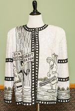Jeanette Kastenberg Looney Tunes Sequin Bead Jacket Bugs Bunny Daffy Duck Elmer