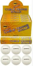 12x tavolo palle da tennis bianco PING PONG SPORT TORNEO INDOOR OUTDOOR UK