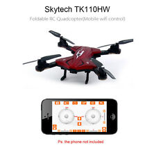 Skytech TK110HW Foldable RC Quadcopter with 0.3MP Camera Cellphone Control Red