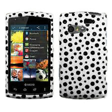 For Kyocera Rise C5155 HARD Protector Case Snap on Phone Cover Black Mixed Dots