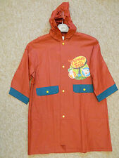DISNEY PHINEAS & FERB RAINCOAT AGE 6 RUSSET & GREEN NEW WITH TAGS