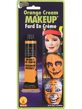 Orange Grease Face Paint Cream Makeup Make Up Halloween Fancy Dress Brand New