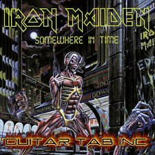 Iron Maiden Guitar Tab SOMEWHERE IN TIME Lessons on Disc