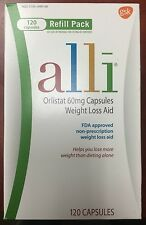 Alli Weight Loss Capsules, Unisex,120 Ct, Refill, Exp. 2017,  Sealed Bottle.