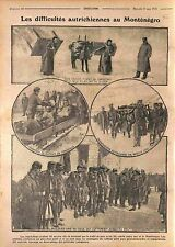Austria Army Montenegro Red Cross Infirmary Soldiers Soldats Stretcher WWI 1916