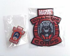 Funko Marvel Collector Corps Captain America Pin And Ultron Patch Avengers Set