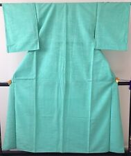 Authentic vintage handmade Japanese silk kimono for women, turquoise (G320)