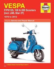 Manual Haynes Servicio De Reparación Vespa P125 P150 P200 PX125 PX150 PX200 LML