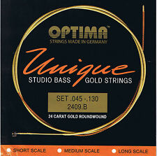 Optima/Maxima 'Unique Series' Studio 24 K Gold Bass 5 String 45-130 - BG2409.B