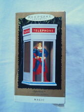 Hallmark Ornament Christmas Keepsake Superman Telephone Booth Magic Light Sound
