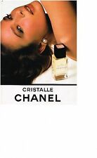 PUBLICITE ADVERTISING  1984  CRISTALLE  eau de toilette de CHANEL  parfums