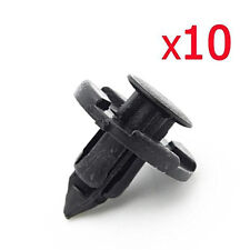 10PCS Black Car Plastic Rivet Weatherstrip Fastener Mud Flaps Bumper Fender Push