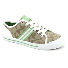 New in box Coach Folly A1005 Shoes Flats Sneakers 10 Khaki Grass White