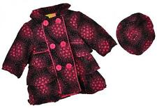 Penelope Mack Toddler Girls Black & Pink Corduroy Jacket W/Hat Size 2T