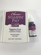 Stampin Up EGGPLANT ENVY Classic Dye Ink Pad & Refill Reinker for stamp