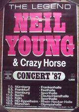 NEIL YOUNG & CRAZY HORSE Plakat Poster Concert Tour 1987 rare rar