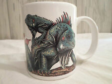 New ! Green Iguana Coffee Mug w/ Facts/Info Cup Glass Natural Wonders Reptile