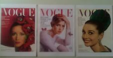 Set of 3 Vogue vintage prints A3 best quality heavy canvas paper Hepburn Twiggy