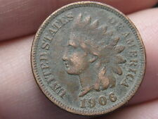 1906 Indian Head Cent Penny, XF Details, Diamonds, LIBERTY