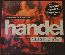 Rare Handel Compact Companions CD Book Classic FM Sealed MINT Philips 8 Tracks