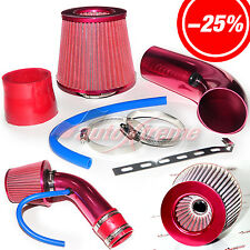 "2.5""-3.0"" UNIVERSAL COLD AIR Intake INDUCTION HOSE KIT System & JDM Filter RED"