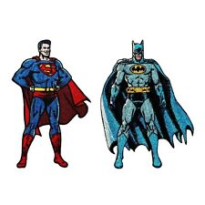 Batman Vs Superman 2-Pack Patch Combo DC Movie Superhero Film Iron-On Applique
