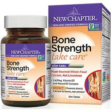 New Chapter Bone Strength 120 Slim Tabs Plant Source Calcium LOWEST PRICE