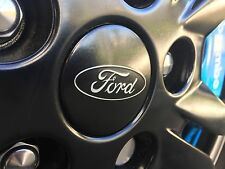 Genuine ford roue alliage noir centre caps x4 focus rs/fiestastline/mustang * set