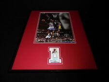 Allen Iverson 16x20 Framed Game Used Jersey & Photo Display 76ers D