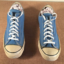 Vintage Size 16 Converse Chuck Taylor BLACK LABEL Mens Sneakers Shoes Blue USA
