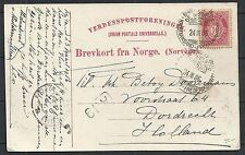 Norway 1906 PPC to Dordrecht and ShipCANC