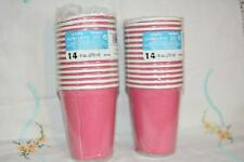 20 x HOT PINK paper party CUPS bright pink Birthday Wedding Bridal Shower Baby