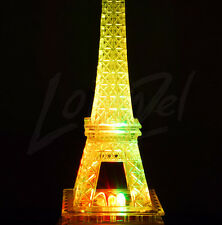 Multi-Colored LED Eiffel Tower w/Builtin Light - Free Expedited Shipping