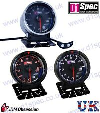 D1 Spec UNIVERSALI RACING RPM CONTAGIRI Manometro 52mm Quadrante Nero JDM Rally Drift