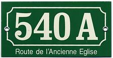 Old French house number 540 A door gate plaque enamel steel sign church road
