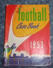 Official Football Case Book 1953 guide  Ad's with photos of different footballs
