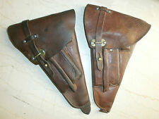 ORIGINAL SWEDISH M40 LAHTI PISTOL BROWN LEATHER HOLSTER