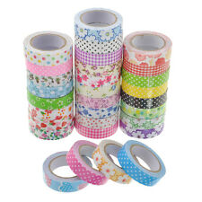Cute Roll DIY 15mm Washi Tape Fabric Printing Decorative Sticky Sticker