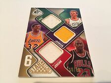 SP GU 6 Star Swatches 2009-10 Patch Michael Jordan Larry Bird Magic Johnson